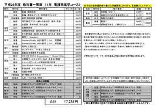 平成29年度 教科書一覧表 (1年 看護系進学コース).jpg